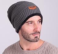 Лыжная шапочка Лыжи Caps / Кепка Муж. Сохраняет тепло / С защитой от ветра Сноуборд Шерстяная ткань Серый ОднотонныйКатание на лыжах /
