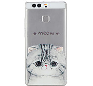 Cat Pattern Material TPU Phone Case For Huawei P9 P9 Lite