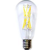 12W E26/E27 Bombillas de Filamento LED ST64 12 COB 1100 lm Blanco Cálido Impermeable AC 100-240 V 1 pieza