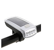 Solar Bike Lights 4 LED Bicycle Front Head Light USB 2.0 Rechargeable Head Light Portable Outdoor Night Cycling Lights