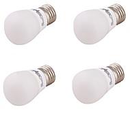 3 E26/E27 LED Kugelbirnen A60(A19) 6 SMD 5730 220 lm Warmes Weiß Dekorativ AC 85-265 / AC 220-240 / AC 110-130 V 4 Stück