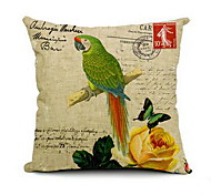 Nordic Style Small Fresh Garden Flowers And Parrots Can Diy Pillow Cushions Pillow Plans To Customize