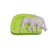 Walking Elephant Silicone Fondant Mold Cake Decoration Sugarcraft Tools Polymer Clay Fimo Chocolate Candy Soap Making