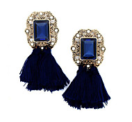 2016 New Fashion Vintage Jewelry Brand Crystal Tassel Dangle Earrings Brincos Pendiente Statement Earrings For Women