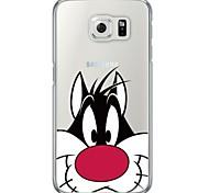 мультфильм шаблон кошка мягкая ультратонкий задняя крышка TPU для Samsung galaxys7 края s7 s6 края s6 края плюс s6 s5 s4