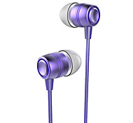 ESONG Q12 In-Ear Earphone Diamond Heavy bass Surround sound Metal headphone with Microphone for iPhone