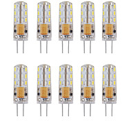 1w 80-120lm силикагель g4 12v ac / dc led bulb 24 smd 3014 360 угол луча белый / теплый белый (10 pcss)