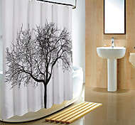 180*180cm Elegant Scenery Big Black Tree Design Waterproof Bathroom Fabric Shower Curtain