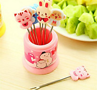 Cartoon Animal Head Stainless Steel Fruit Fork Ice Cream