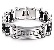 2016 Kalen New Fashion Men's Bike Chain Bracelet 316L Stainless Steel&Leather Link Chain Bracelet Cheap Accessories Gift