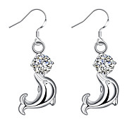 Earring Imitation Diamond Animal Shape Drop Earrings Jewelry Women Fashion