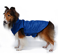 Dog Coat / Jacket / Vest Red / Orange / Yellow / Blue / Black / Pink Dog Clothes Winter Solid Keep Warm / Waterproof Doglemi