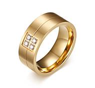 Муж. Классические кольца Стразы Мода По заказу покупателя бижутерия Титановая сталь Бижутерия Назначение Повседневные