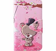 Bear Pattern PU Material New High-End Card Holder Phone Case For Samsung Galaxy J3 (2016) J5 J5 (2016)
