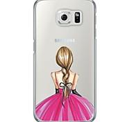Для Samsung Galaxy S7 Edge Чехлы панели Ультратонкий Полупрозрачный Задняя крышка Кейс для Соблазнительная девушка Мягкий TPU для Samsung