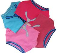 Собаки Футболка Синий / Розовый / Розоватый / Сирень-розовый Одежда для собак Лето Мода