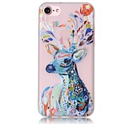 Glow in the Dark Deer Pattern Embossed TPU Material Phone Case for  iPhone 7 7 Plus 6s 6 Plus SE 5s 5