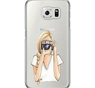 Beautiful Cartoon Girl Pattern Soft Ultra-thin TPU Back Cover For Samsung GalaxyS7 edge/S7/S6 edge/S6 edge plus/S6/S5/S4