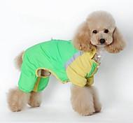 Katzen / Hunde Kostüme / Regenmantel / Overall Grün / Rosa Hundekleidung Winter / Sommer / Frühling/Herbsteinfarbig / Streifen /