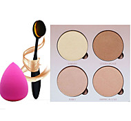 4 Paleta de Sombras de Ojos Seco Paleta de sombra de ojos Polvo Normal Maquillaje de Diario