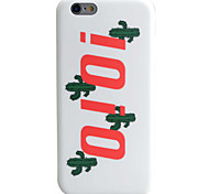 Cactus Letter Pattern IMD Technology Phone Case TPU Material For iPhone 6s 6 Plus