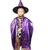 mantello Strega di Halloween i bambini mostrano i vestiti a sei stelle di colore guidata mantello mantello casuale