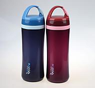 promoção da marca yooyee portátil garrafa de parede dupla esporte plástico 500ml de água padrão fda