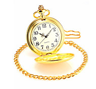 Men's Gold Alloy Quartz Pocket Watch Cool Watch Unique Watch