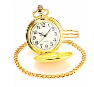 Masculino Relógio de Bolso Quartz Lega Banda Dourada marca-