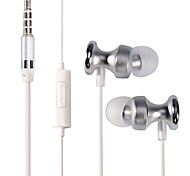 CSONG Q7 In-Ear Earphone Stereo Bass 3.5mm Braided Wired Metal headphone with Microphone for iPhone