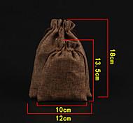Jewelry Bags Fabric 1pc White / Brown / Orange