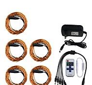 kwb 50m (5 * 10m) 500 impermeable control remoto cadena w regulable luces v DC12