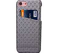 Per Custodia iPhone 7 / Custodia iPhone 7 Plus Porta-carte di credito Custodia Custodia posteriore Custodia Geometrica Resistente