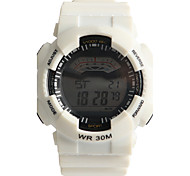 Men's Women's Sport Watch Digital Watch Water Resistant / Water Proof / Quartz Digital Plastic Band Casual White