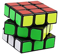 Yongjun® Cubo velocidad suave 3*3*3 Velocidad Cubos Mágicos Negro Etiqueta suave Guanlong Anti-pop / muelle ajustable ABS