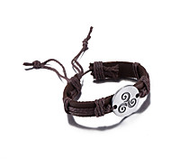 Bracelet Leather Bracelet Leather Circle FashionHalloween