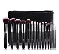 15Pcs Wool Rose Gold Makeup Brush Sets Professional Makeup Brush With PU Leather Case