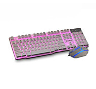 Cloud Floating Mechanical Suit The Internet Bar Feel Glowing Backlit Keyboard The Mouse