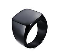 Муж. Массивные кольца По заказу покупателя европейский Простой стиль бижутерия Титановая сталь В форме квадрата Бижутерия Назначение