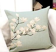 Algodão/Linho Fronha,Floral Moderno/Contemporâneo