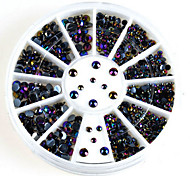 Nail Art Act The Role Ofing Is Tasted Dazzle Colour Black  Diamonds