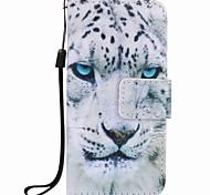 белый леопард картины пу телефон случае для яблок ITouch 5 6