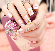 24Pcs Romantic French Beauty Nails And Fashionable Elegant 1 Set