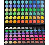 120 Palette de Fard à Paupières Mat / Lueur Fard à paupières palette Crème Grand Maquillage Quotidien