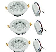 Downlight de LED Branco Quente / Branco Frio LED 3 pçs