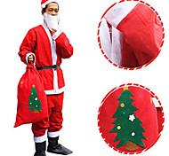 нетканое Санта платье костюм рождества шляпа ремень борода пальто брюки не включает в себя сапоги
