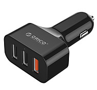 ORICO UCH-Q3 3-Ports USB Quick Charge 3.0 Car Charger for Apple Samsung Haiwei xiaomi Smart Mobile/Power Bank
