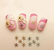 100шт золотой снежинки искусства ногтя играть роль ofing пробован ультратонкую модель