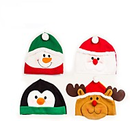1PC Christmas Hat Snowman / Elk / Santa Claus Decoration Supplies Party Supplies Festival Supplies(Random Color)