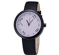 Unissex Relógio de Moda Quartzo Digital Colorido Couro Banda Casual Preta marca